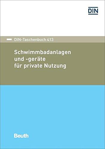 9783410262046: Schwimmbadanlagen und -geräte für private Nutzung