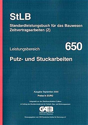 9783410835615: Leistungsbereich 650. Putz- und Stuckarbeiten: Mit Preisen in Euro