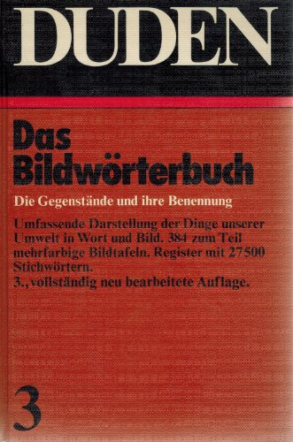 9783411009138: Bildwoerterbuch Duden V.03: 003 (Der Duden: Vol 3)