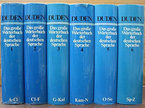 9783411013548: GROSSES WOERTERBUCH 6 VOLS,