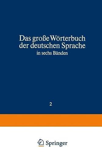9783411013562: Duden Das große Wörterbuch der deutschen Sprache in sechs Bänden: Das große Wörterbuch der deutschen Sprache in sechs Bänden Band 2: Cl-F (Duden Worterbuch, CL-F)