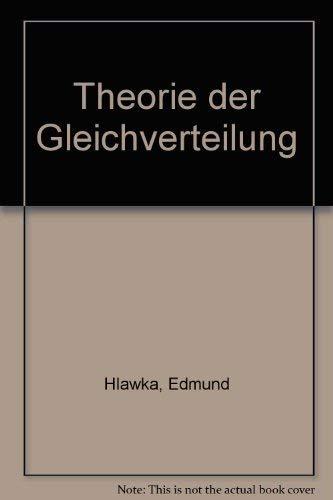 9783411015658: Theorie der Gleichverteilung