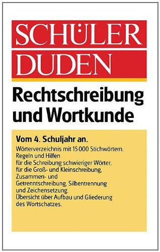 9783411017287: Schüler-Duden: Rechtschreibung und Wortkunde