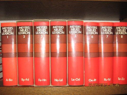 9783411017508: Meyers neues Lexikon: in 8 Bd. mit Atlasbd. u. Jahrbuchern : mit 16 signierten Sonderbeitr.