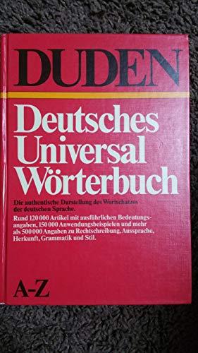 9783411021758: Duden: Deutsches Universalwörterbuch