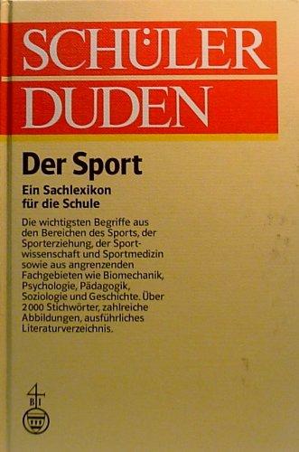 9783411022090: Schülerduden. Der Sport. Ein Sachlexikon für die Schule