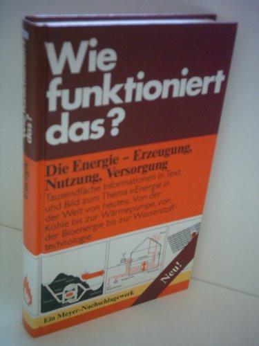 9783411023752: Wie funktioniert das? Die Energie. Erzeugung. Nutzung. Versorgung.