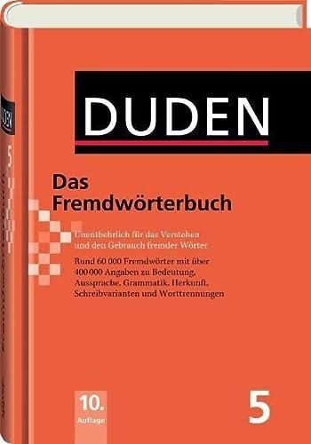 9783411040605: Der Duden in 12 Banden: 5 - Das Fremdworterbuch (German Edition)