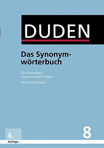 9783411040865: Der Duden in 12 Banden: 8 - Das Synonymworterbuch