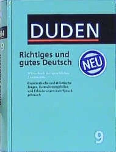 9783411040957: Richtiges Und Gutes Deutsch (Der Duden in 12 Banden)