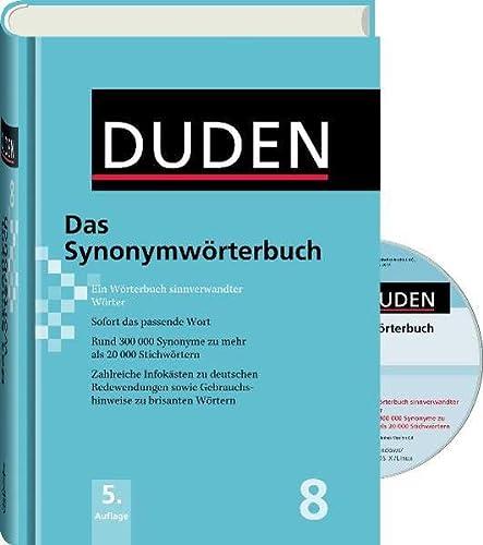 9783411041350: Der Duden in 12 Banden: Das Synonymworterbuch plus CD-Rom