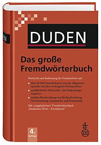 9783411041640: Duden - Das große Fremdwörterbuch - Buch plus CD Herkunft und Bedeutung der Fremdwörter Hrsg. v. Dudenredaktion Deutsch Über 85.000 Fremdwörter.