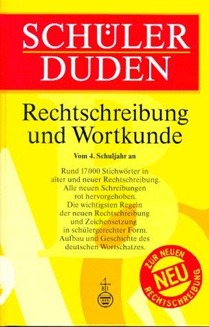 9783411042159: (Duden) Schülerduden, Rechtschreibung und Wortkunde, neue Rechtschreibung