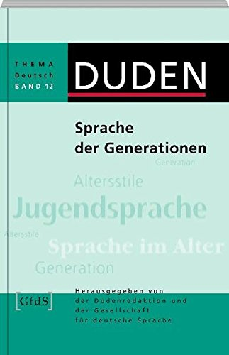 9783411043170: Thema Deutsch Band 12: Generationensprache (Arbeitstitel)
