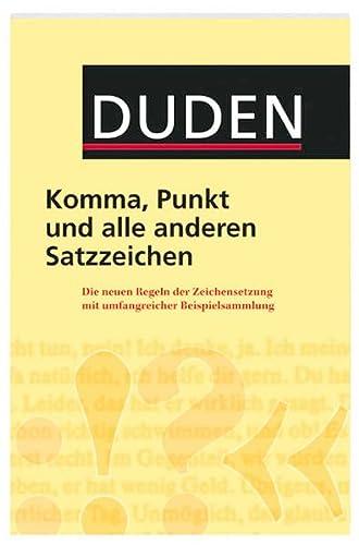 9783411049158: Duden - Komma, Punkt und alle anderen Satzzeichen