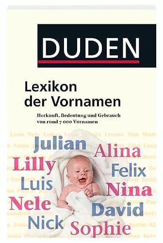 9783411049448: Lexikon der Vornamen.