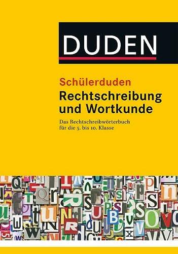 9783411051625: Schülerduden Rechtschreibung und Wortkunde (gebunden)