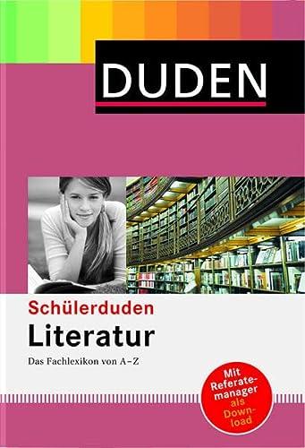 9783411054053: Duden. Schülerduden Literatur: Das Fachlexikon von A - Z