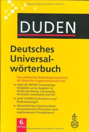9783411055067: 33 deutsches universal worterbuch 6 ed
