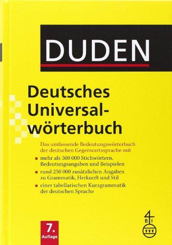 9783411055074: Duden Deutsches Universalworterbuch: Duden Deutsches Universalworterbuch 7th Edition