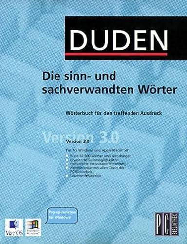 9783411064540: Duden PC-Bibliothek: Die Sinn- Und Sachverwandten Worter (CD-Rom)