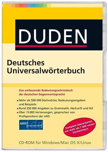 9783411109630: Duden - Deutsches Universalwörterbuch (1Cédérom)