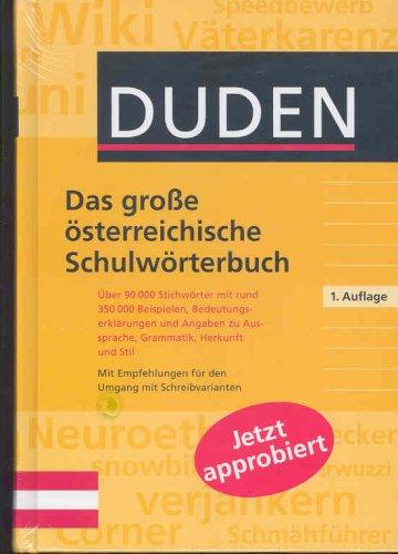 9783411140978: Duden. Das große österreichische Schulwörterbuch
