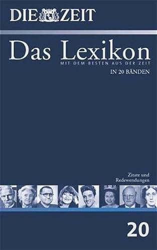 Zeit Lexikon Bd 20 Zitate Und Redewendungen Bibliographisches