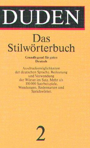 9783411209026: Stilworterbuch: Part 2