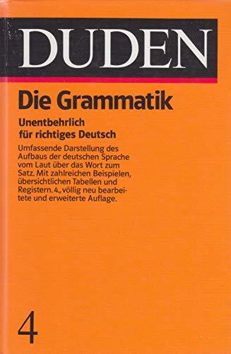 9783411209040: GRAMMATIK/DUDEN V.04, NEUAUFLAGE (Duden 4)
