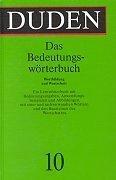 9783411209118: Duden Bedeutungsworterbuch: No 10