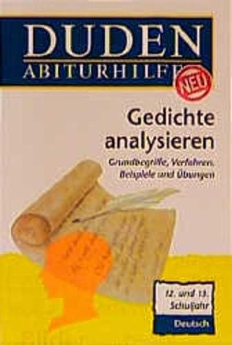 9783411701414 Duden Abiturhilfen Gedichte Analysieren Zvab