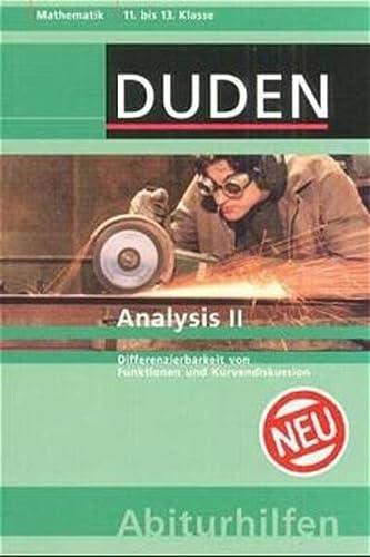 9783411701735: Analysis 2: Differenzierbarkeit von Funktionen und Kurvendiskussion. 11. bis 13. Klasse. Mathematik