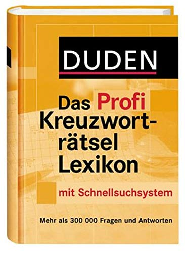 9783411705313: Duden Das Profi Kreuzworträtsel Lexikon