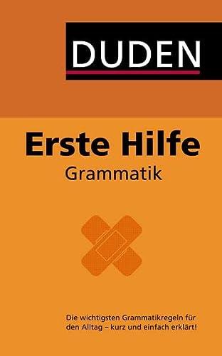 9783411711277: Duden - Erste Hilfe Grammatik