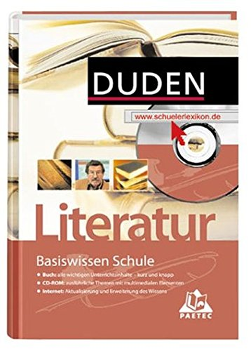9783411716012: Duden Basiswissen Schule, m. CD-ROM, Literatur