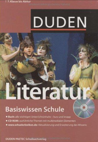 9783411716029: Duden. Basiswissen Schule. Literatur: 7. Klasse bis Abitur