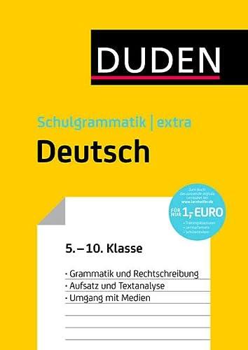 9783411719952: Duden Schulgrammatik extra - Deutsch: Grammatik und Rechtschreibung - Aufsatz und Textanalyse - Umgang mit Medien (5. bis 10. Klasse)