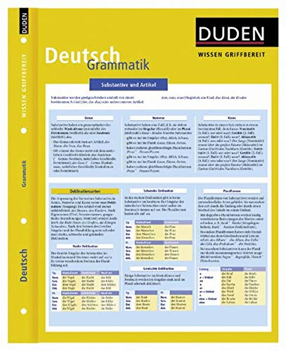 9783411722013: Duden Wissen griffbereit. Deutsch: Grammatik