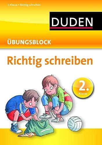 9783411734535: Richtig schreiben - Übungsblock 2. Klasse