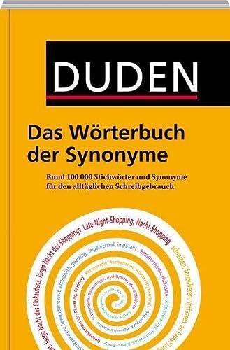 9783411744824: Duden - Das Wörterbuch der Synonyme