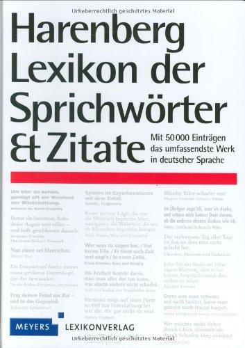 9783411761227: Harenberg Lexikon der Sprichw�rter und Zitate: Mit 50 000 Eintr�gen das umfassendste Werk in deutscher Sprache