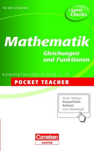 9783411862030: Mathematik. Sekundarstufe I . Gleichungen und Funktionen: Kompaktwissen Klasse 5-10