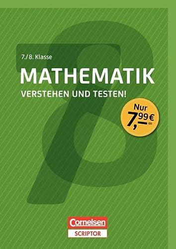 9783411871476: Mathematik - Verstehen und testen! 7./8. Klasse