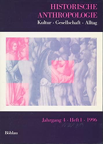 9783412018962: Historische Anthropologie, H.1