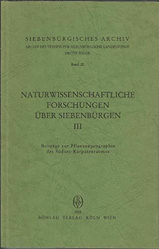 Beiträge zur Pflanzengeographie des Südost-Karpatenraumes: Heltmann, Heinz &
