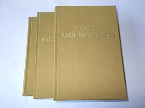 9783412045784: Festschrift für Paul Koschaker. Fotomechanischer Nachdruck der Originalausgabe 1939 nach dem Exemplar der Universitätsbibliothek Leipzig
