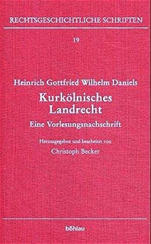 Heinrich Gottfried Wilhelm Daniels: Christoph Becker