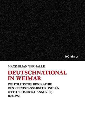 Deutschnational in Weimar: Maximilian Terhalle