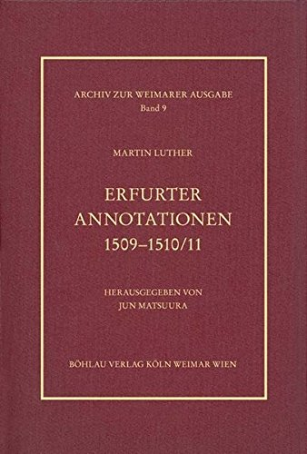 9783412203900: Erfurter Annotationen 1509-1510/11
